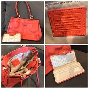 Coach purse and matching coach wallet